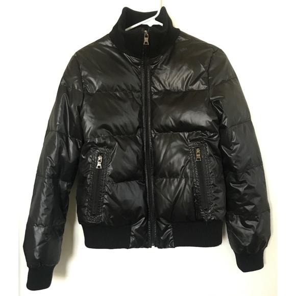 902e1f9c41 Banana Republic Jackets & Coats | Black Puffer Down Bomber Jacket ...